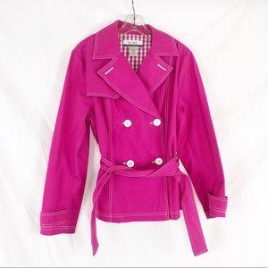 Nine & Company Sz 10 Pink w/ white Seam Short Coat